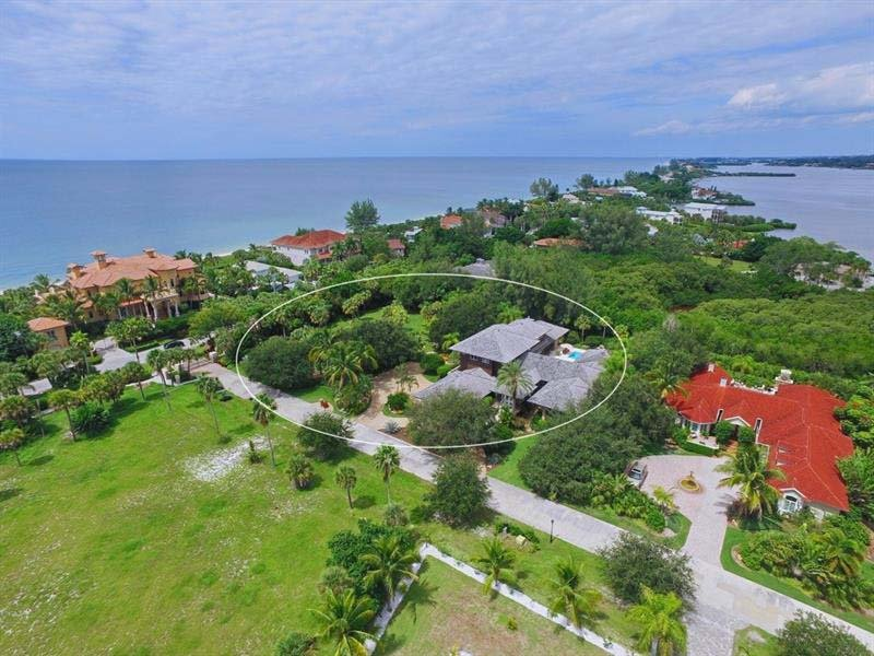 Aerial View of Luxury Home near the Gulf of Mexico