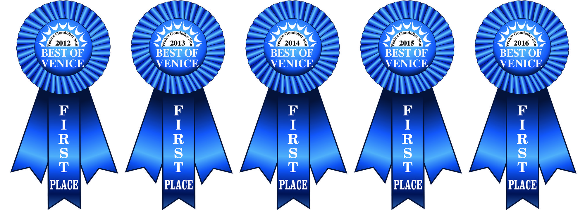 Best of Venice Blue Ribbons